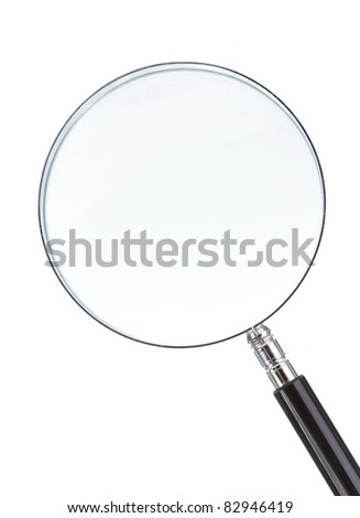 magnifying glass isolated on white background - stock photo
