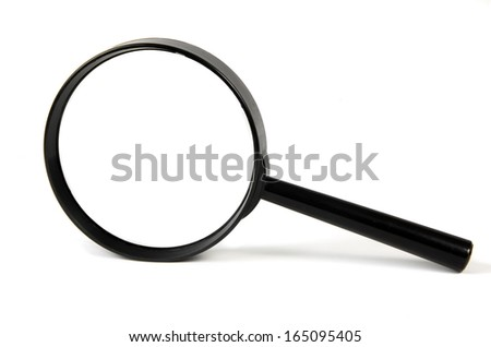 magnifying glass isolated over white - stock photo