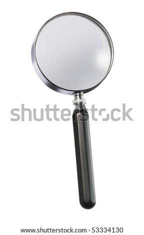 magnifying glass on white - stock photo