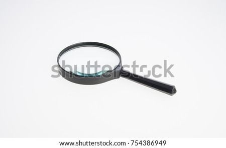 Magnifying Glass or Magnify on a background