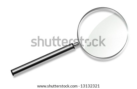 magnifying glass - researchings concept - stock photo