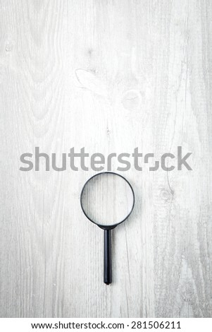 Magnifying glass, Search symbol - stock photo