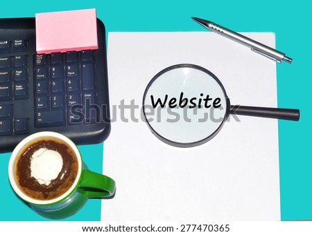 """Magnifying glass searching """"WEBSITE"""", Internet concept  - stock photo"""