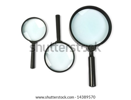 magnifying glass set - stock photo