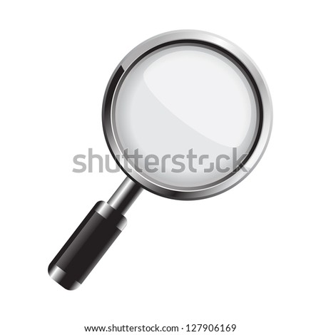 Magnifying glass. Vector version also available in gallery. - stock photo