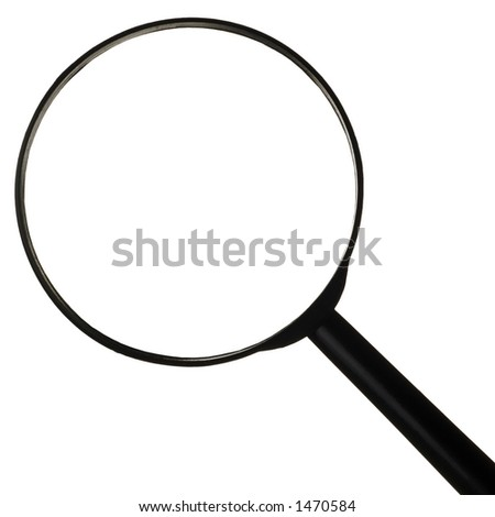 magnifying glass w/clipping path