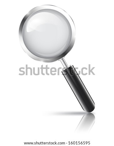Magnifying glass with reflection