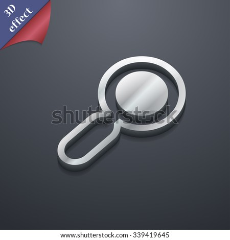 magnifying glass, zoom icon symbol. 3D style. Trendy, modern design with space for your text illustration. Rastrized copy - stock photo