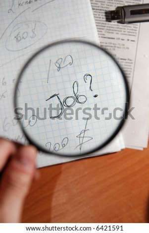 magnifying glass zoom word job