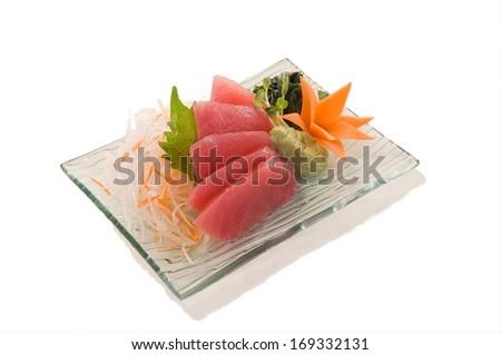 Maguro Sashimi  Maguro Sashimi 5pcs. (Tuna)   - stock photo