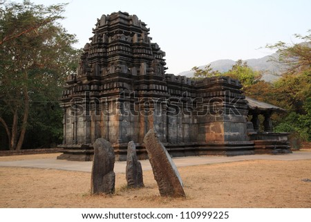 Mahadev Temple, Tambdi Surla, Goa, India - stock photo