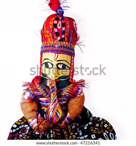 Maharaja Doll from India - stock photo