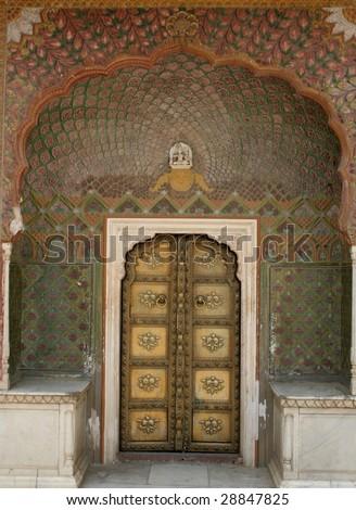 Maharaja golden door - stock photo