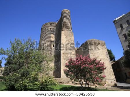 Maiden Castle in Baku,Azerbaijan. - stock photo