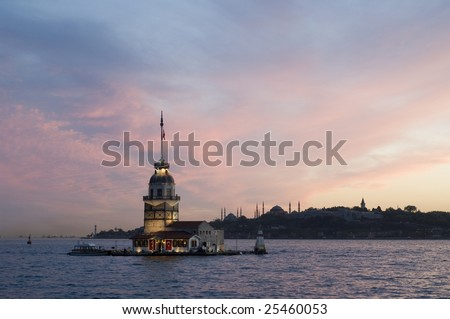 Maiden's Tower in Istanbul - stock photo