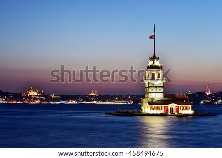 Maiden's Tower is one of the romantic symbol of Istanbul