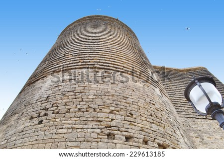 Maiden Tower - the symbol of Baku city - stock photo