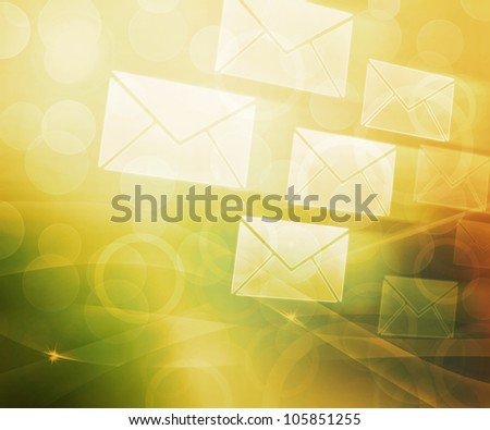 Mail Abstract Background - stock photo