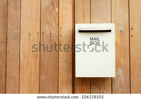 mail box in front of house - stock photo
