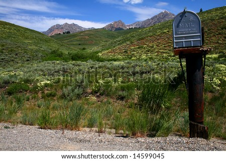 Mail box in the high country of central Idaho