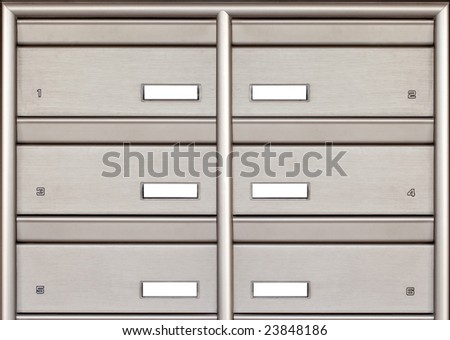 mail box isolated - stock photo