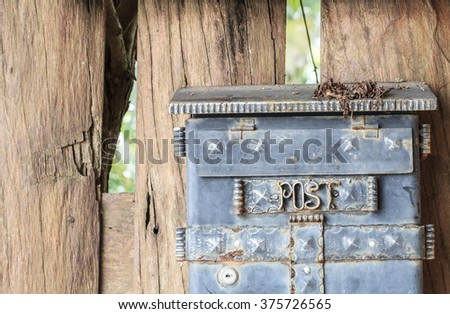 Mail box on wood - stock photo