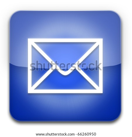 Mail icon Blue - stock photo
