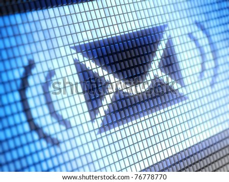 Mail icon on screen