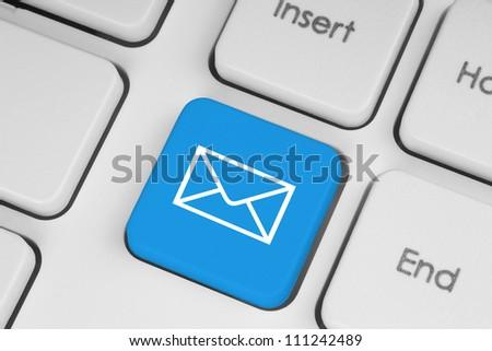 Mail keyboard button - stock photo