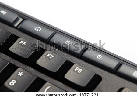 Mail keyboard button on black keyboard - stock photo