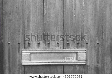 mail mailbox letterbox letter post - stock photo