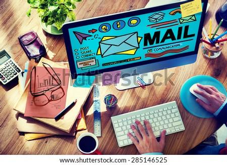 Mail Message Inbox Letter Communication Concept - stock photo