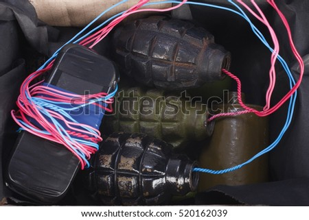Mailbomb IED - Improvised Explosive Device in mailbox isolated on white