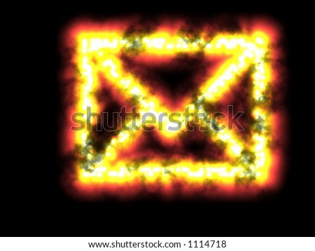 mailbomb mail bomb snail mail email internet explosion - stock photo
