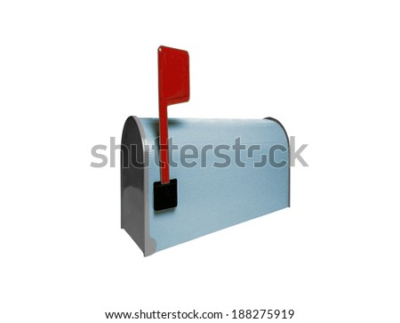 Mailbox isolated on white - stock photo