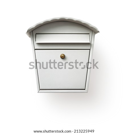 Mailbox isolated on white background, clipping path included - stock photo