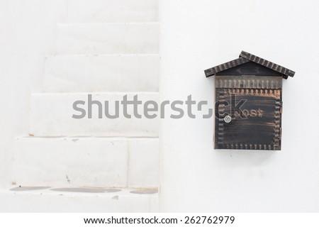 mailbox on white background - stock photo