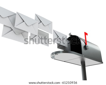 mailbox with mail - stock photo