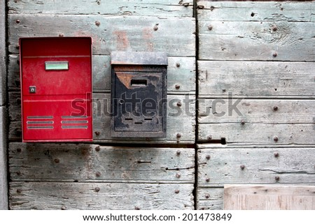 Mailboxes  - stock photo