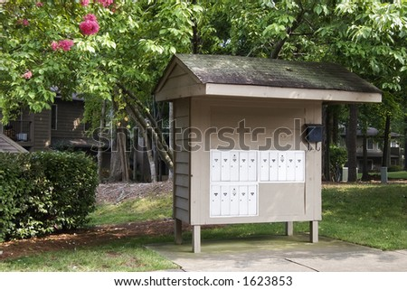 Mailboxes at Condominium Complex