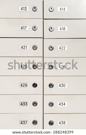 Mailboxes with number