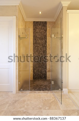 Main bathroom within a modern house - stock photo