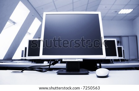 main computer and other - stock photo