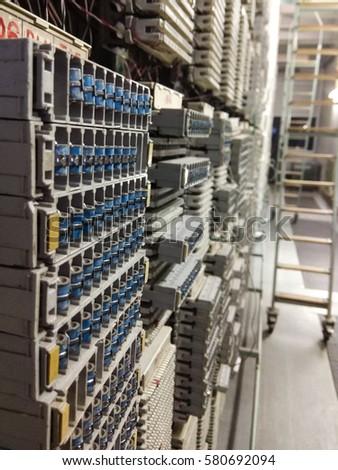 Main Distribution Frame Telecommunication Network Stock Photo ...