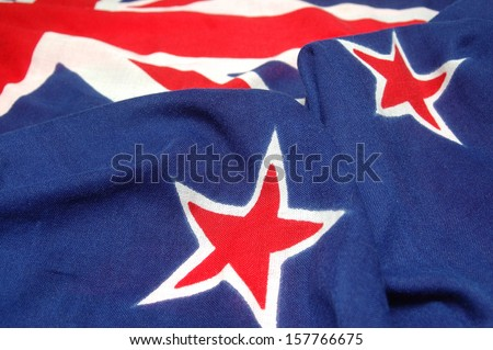 main elements of the New Zealand flag - Union Jack and stars of the Southern Cross