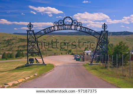 Main entrance at the World Museum Of Mining, Butte, Montana - stock photo