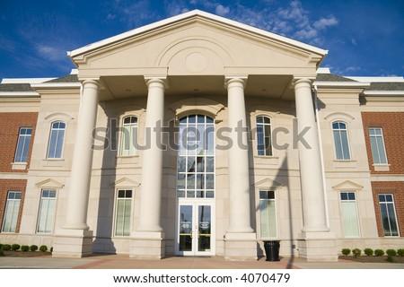 Main entrance to the City Hall in Lebanon, Indiana - stock photo