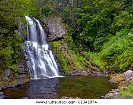 Main Falls of Bushkill Falls - stock photo