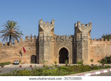 Main gate of Chellah necropolis.