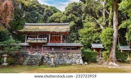 Main Hall at Daigo-ji Temple in Kyoto, Japan  - stock photo